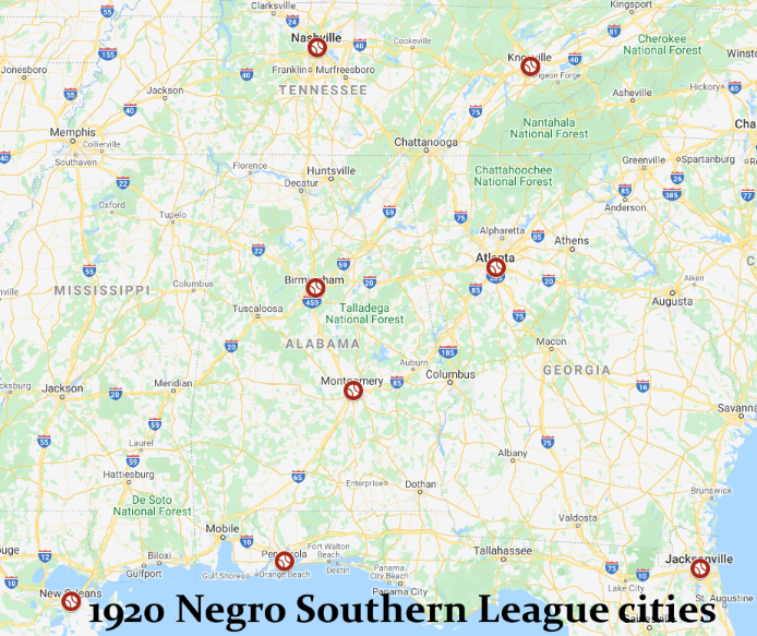 1920 NSL cities map